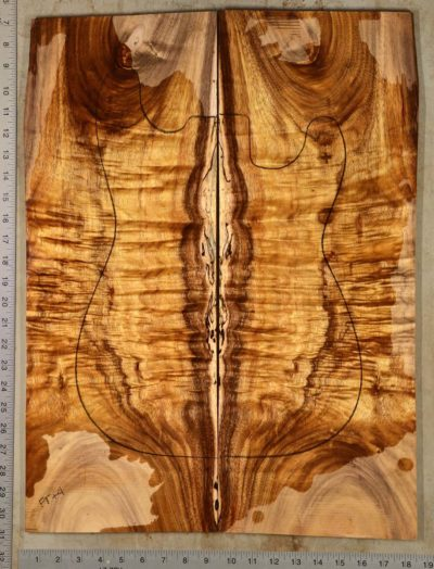 Curly Koa Guitar Set ~ Hearne Hardwood Inc.