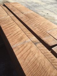 8/4 figured redwood lumber