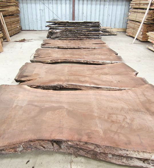 bookmatched live edge slabs