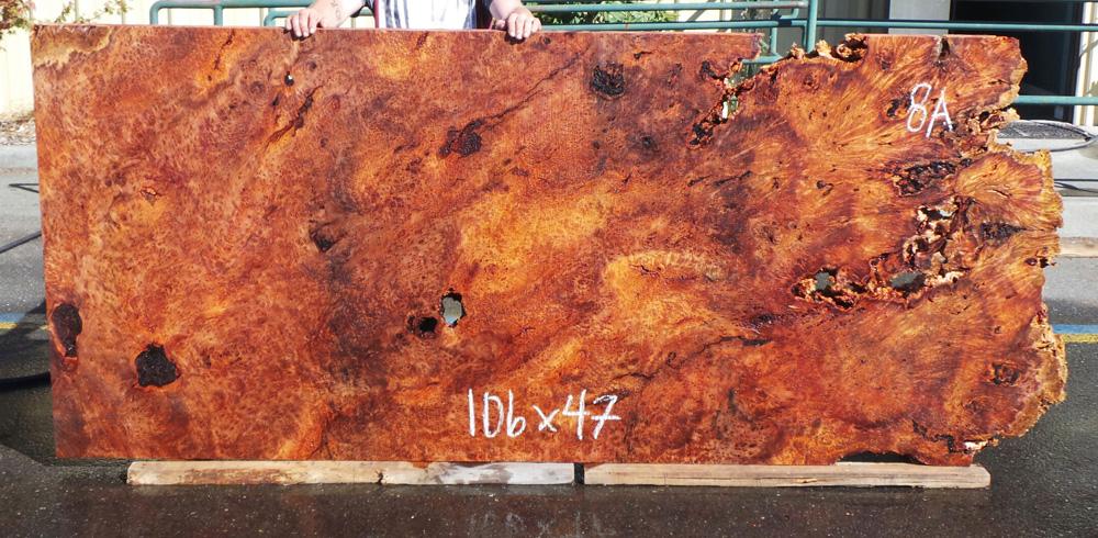 redwood burl live edge slab
