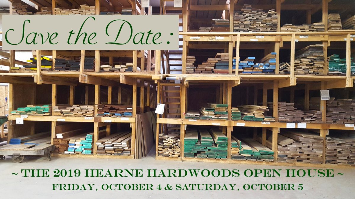 Save the Date for the 2019 Hearne Hardwoods Open House - October 4 & 5