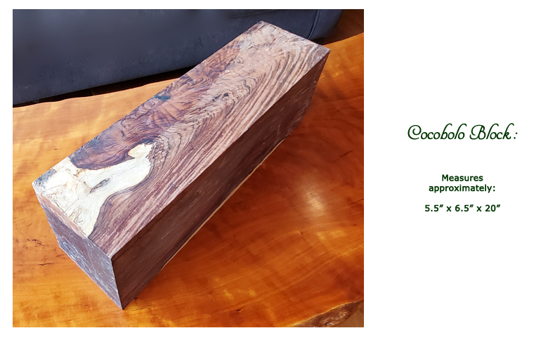 Win this Cocobolo Block at the 2019 Hearne Hardwoods Open House