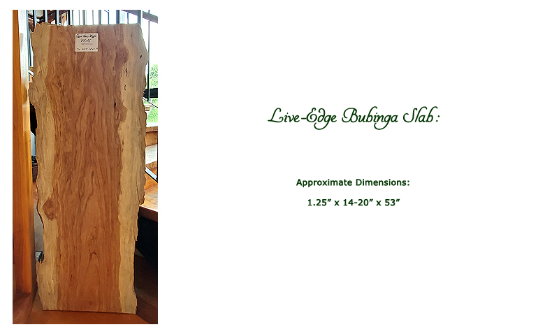 Win this live-edge bubinga slab at the 2019 Hearne Hardwoods Open House