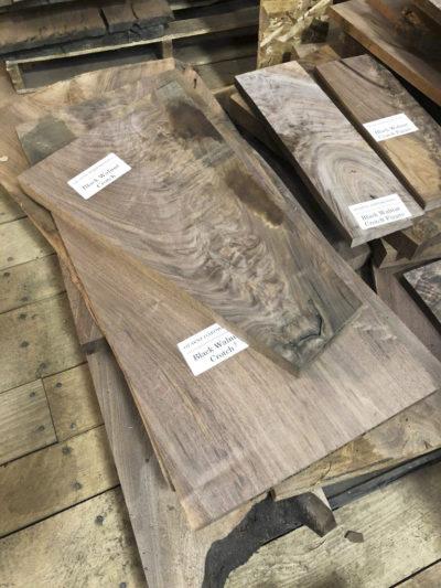 Black Walnut Crotch Boards ~ Hearne Hardwoods Inc.