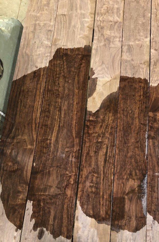 Pomelle/ quilted 4/4 black walnut at Hearne Hardwoods Inc.