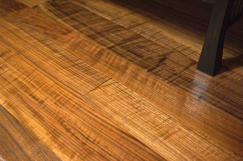 figured black walnut hardwood flooring