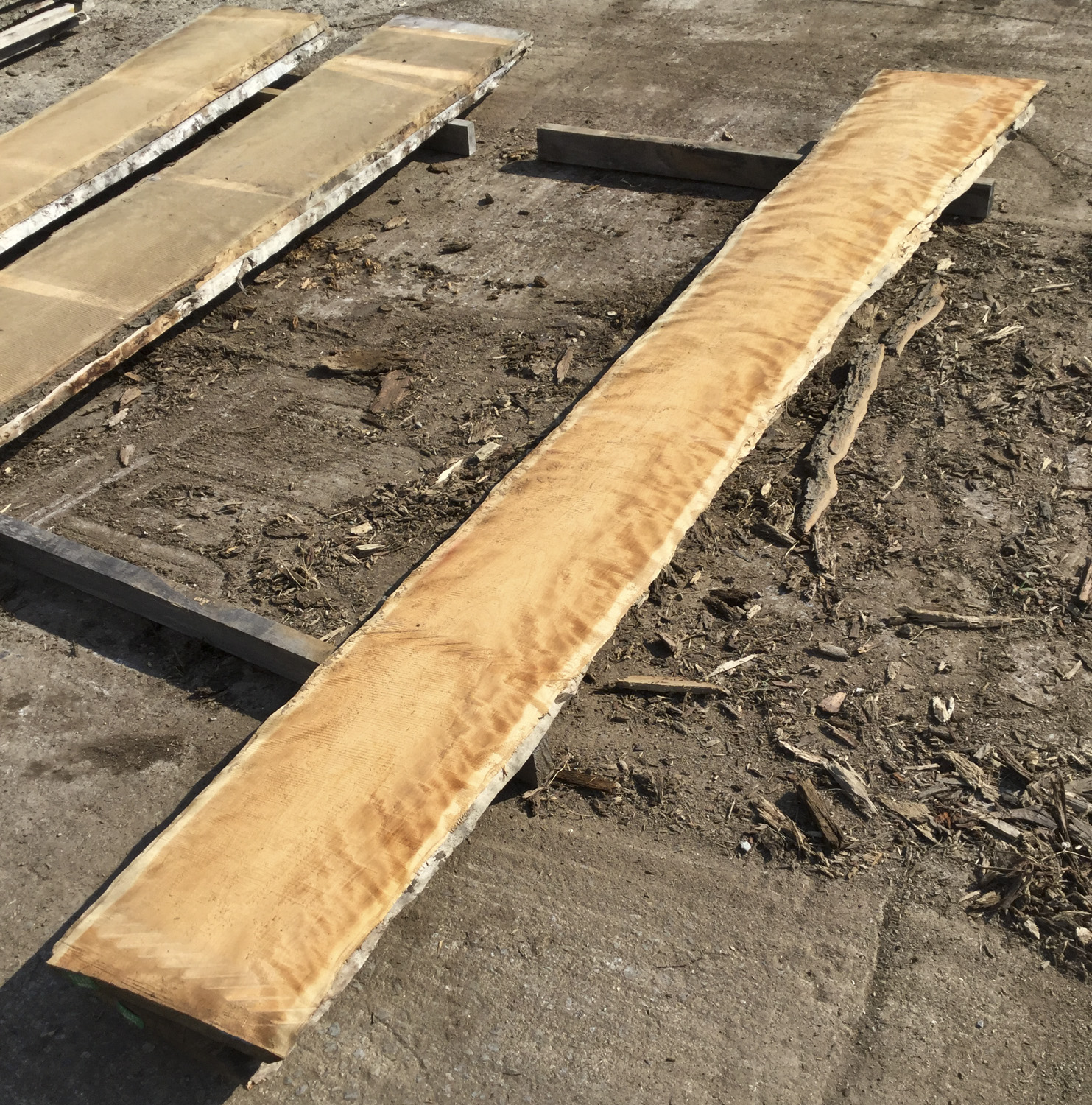 New 5/4 Cherry boules - figured and non-figured material available. Live edge cherry slabs at Hearne Hardwoods Inc.