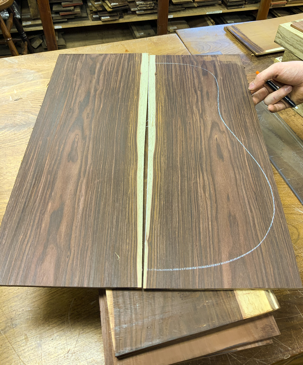 Nicaraguan Rosewood Madness!! Patrick is grading a new batch of sets - We have hundreds of new sets available in all grades! (Coming soon to our website). **Nicaraguan Rosewood is an excellent substitute for Brazilian Rosewood** For more info: 1.888.814.0007 or ben@hearnehardwoods.com