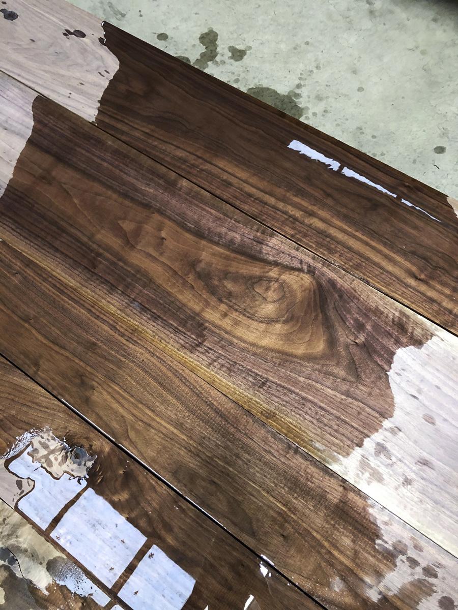 Fresh stock of 8/4 Figured FAS Black Walnut at Hearne Hardwoods Inc.
