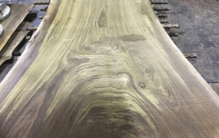 live edge walnut slabs at Hearne Hardwoods Inc.