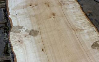 Cutting a 20 foot long Big Leaf Maple log at Hearne Hardwoods Inc.