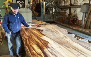Koa wood sample photo - Buy Koa live-edge slabs, lumber and guitar sets at Hearne Hardwoods Inc.