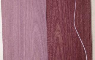 sample picture of purpleheart guitar set