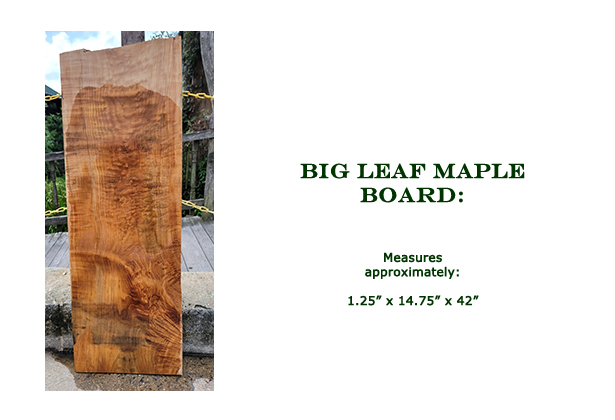 Win this Big Leaf Maple Board at the 2021 Hearne Hardwoods Open House