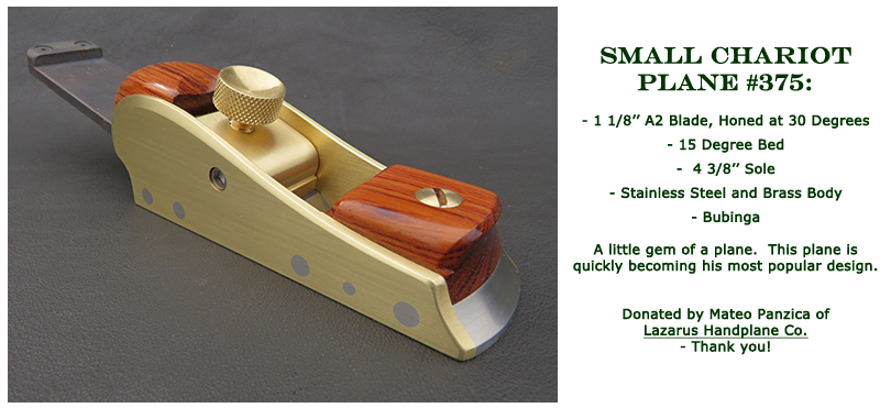 Win this Small Chariot Plane #375 donated by Lazarus Handplane Co at the 2021 Hearne Hardwoods Open House