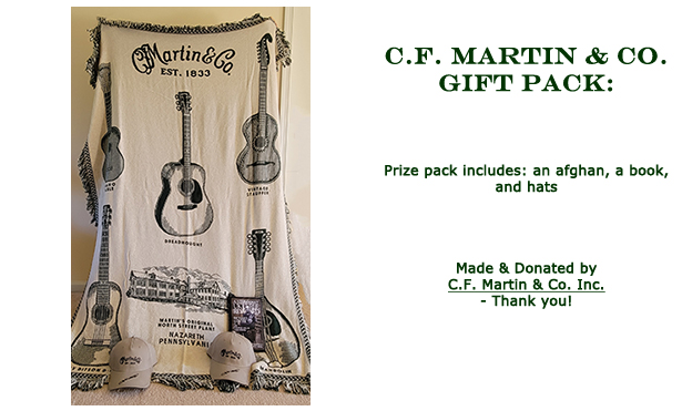 Win this C F Matin and Co gift pack donated by CF Martin and Co at the 2021 Hearne Hardwoods Open House
