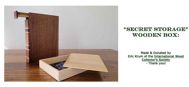 Win this secret storage box, made and donated by Eric Krum at the 2021 Hearne Hardwoods Open House