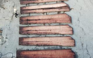 Slicing Sinker Mahogany at Hearne Hardwoods Inc.